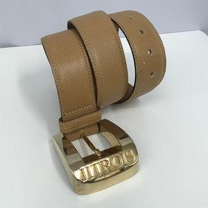 Jean Claude Jitrois Tan Leather Belt Size 75